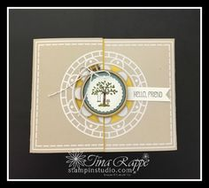 Stampin' Up! A Good Day stamp set, Mini Embroidery Hoops, Stampin' Studio