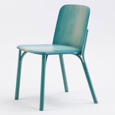 Arik Levy's colourful chairs for TON have legs that split in two.