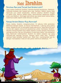 Peristiwa Apa yang Terjadi Saat Ibrahim Lahir Kids Story Books, Stories For Kids, Prophets In Islam, Early Childhood Program, Learn Islam, Book Layout, Islamic Pictures, Doa, Muhammad