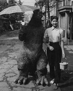 Godzilla holding an umbrella! Culture my friends. Refined Reptile.