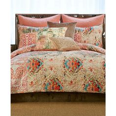 Tracy Porter Wish Full/Queen Quilt ($150) ❤ liked on Polyvore featuring home, bed & bath, bedding, quilts, blush mult and queen bedding