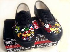 Custom Super Mario Vans