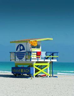 Miami Beach Lifeguard Shack II by W Kurt Staley - Miami Beach Lifeguard Shack II Photograph - Miami Beach Lifeguard Shack II Fine Art Prints and Posters for Sale South Beach Miami, South Florida, Miami Florida, Usa Miami, South Usa, Florida Keys, Florida Beaches, Beach Lifeguard, Orlando