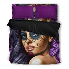 Calavera Tattooed Girl Duvet Set Calavera Tattoo, Beautiful Bedding Sets, Duvet Sets, Tattoo Art, Pillow Inserts, Girl Tattoos, Duvet Covers, Pillow Cases, Pillows