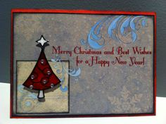Christmas card handmade dry different. I enjoy seeing different instead of A typical all the time. Very nice!
