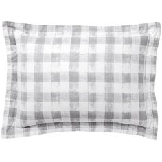Pottery Barn Rhett Check Print Sham ($30) ❤ liked on Polyvore featuring home, bed & bath, bedding, bed accessories, oversized duvet, pottery barn, pottery barn bedding, pottery barn shams and pottery barn bed linens