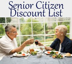 Senior Citizen Discount List, very helpful I printed off a copy for my parents!