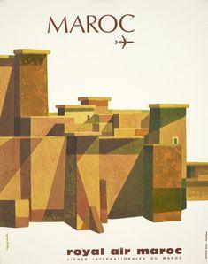 Royal Air Maroc #morocco #moroccan #poster #illustration #royal #air #maroc #travel