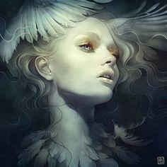 Illustrazioni digitali fantasy e sognanti di Anna Dittmann • Illustrazione