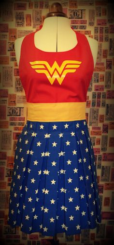 Wonder Woman Apron / Pinny DC comics by TheThreadEmporium on Etsy, £25.00