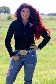 AZTEC CROSS RODEO SHIRT (BLACK & WHITE OPTION AVAILABLE) - Ranch Dress'n