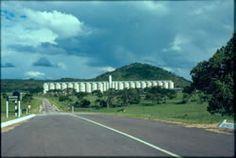 Grain silos at Concession in Mashonaland, 1976