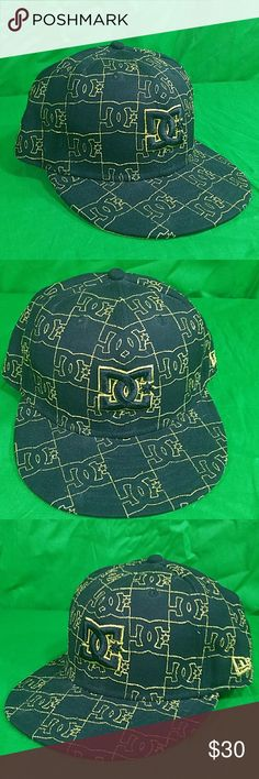 1f31b3ecf99 DC New Era 59Fifty Hat Fitted Black Gold Cap 7 1 8 This is the