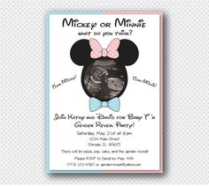 Team Mickey or Team Minnie Gender Reveal by ChicagoPaperDesigns