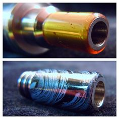 Very small handful of new SS Wide Bore Bully Tips up now at Bull Box Mods. Prehistoric Amber and Cobalt Mokume Gane Wide Bores pictured above. With a huge 6mm bore and double o-rings, you'll be chain vaping away without burning your lips. The stone wrapped 316 steel dissipates the heat keeping your tip cool. Grab em quick!  WWW.BULLBOXMODS.COM #bullytip  #bullboxmods #vape #vaper #vapeon #vaping #vapelife #vapelyfe #vapeporn #vaporizer #vapestudio #vapeaholiks #vapestagramm #vapingmonkey ...