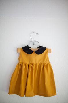le col claudine et la forte tendance de cette saison la couleur Moutarde !