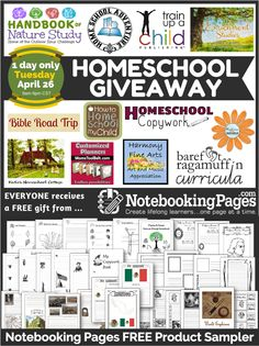 TODAY ONLY ...Homeschool Giveaway over $850 value (+ free gift for everyone!)