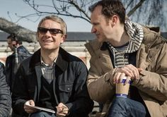 Sherlcok co-creator Mark Gatiss (right), who also plays Mycroft Holmes, said they have already plotted out series 4 and 5 (Picture: BBC)