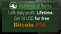 RichmondBerks investment REVIEW Bitcoin FORUM HYIP Start: 24.11.16 Features: - Signup bonus: 10 USD - 0.05% Daily - Language: ENG - Accept: BitCoin [BTC], PerfectMoney [PM], Payeer [PR] AdvancedCash [AC], NixMoney - Payments: Instant - Referral plan: 10%-5%  - Fee for withdrawal: No - Minimum deposit: 0.013 BTC or 10 USD - Minimum withdrawal: 0.0013 BTC or 1 USD - Deposit return: At any time -50%  Invest plans: - 1.40% Daily [ Life income ] - [ On weekends 0.70% ]