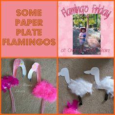 Flamingo Friday--Paper Plate Flamingos
