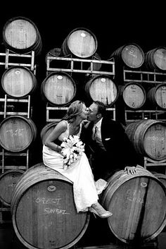 This is such a pretty photo idea - perfect for a vinery wedding!