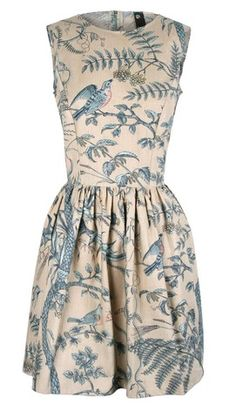 1950's inspired dress with full knee length skirt.  Up-cycled from vintage fabrics
