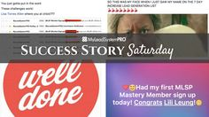 Wow, I'm featured yet again in the Success Story Saturday post! Check it out!