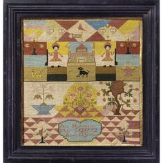 English Sampler dated 1772 by Ann Hollensbee