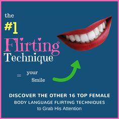 female flirting body language