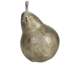 ($19) Home Decorators Collection 11.5 in. H Pear Decorative Sculpture in Aged Gold
