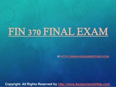 Fin 370 final exam 30 Questions with Answers Exam Answer, Question And Answer, This Or That Questions, Secondary Market, Final Exams, Financial Markets, Debt, Finals, Flow
