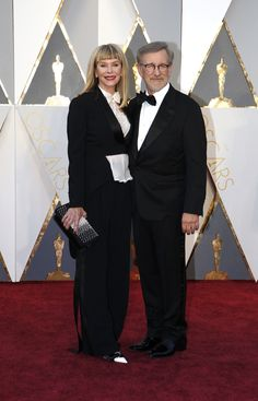 Steven Spielberg and Kate Capshaw arrive on the Oscars red carpet for the 88th Academy Awards.