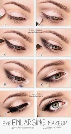 Make-up - Braut Mit Sass Wedding Day Makeup Eye enlarging makeup tutorial. Also, I read somewhere that priming with a white (thick) liner can make that metallic color stay longer without fading. Makeup Inspo, Makeup Inspiration, Beauty Makeup, Hair Makeup, Makeup Ideas, Beauty Tips, Prom Makeup, Makeup Trends, Beauty Ideas