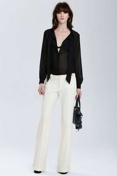 Vintage Balenciaga Albacete Wool Bell Trousers - What's New