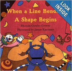 This book is worded very well for explaining shapes to beginners.  It also rhymes and the illustrations are captivating!