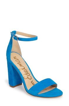 Free shipping and returns on Sam Edelman Yaro Ankle Strap Sandal (Women) at Nordstrom.com. Modern and minimalist, an essential ankle-strap sandal set on a chunky wrapped heel serves as a versatile go-to style.
