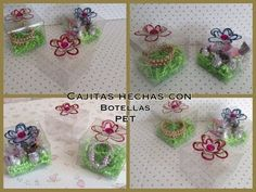 CAJITAS PARA REGALO HECHAS CON BOTELLAS PET . - YouTube