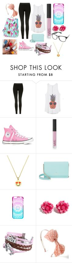 """Middle School"" by alyssa-07 on Polyvore featuring Topshop, Converse, NARS Cosmetics, Kate Spade, Tarina Tarantino, Zodaca and claire's"