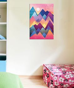 Look at this Pink & Purple Pretty Mountains Giclee Wrapped Canvas on #zulily today!