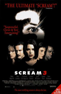 Scream 3 with Neve Campbell, David Arquette, Courteney Cox, Patrick Dempsey andLliev Schreiber
