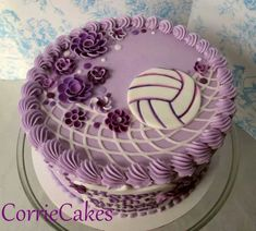 Cute volleyball cake