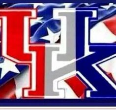 Uk in red, white, and blue