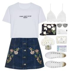 """""""Untitled #2833"""" by wtf-towear ❤ liked on Polyvore featuring Topshop, WithChic, Converse, Dolce&Gabbana, Christian Dior, Native Union and Ethan Allen"""