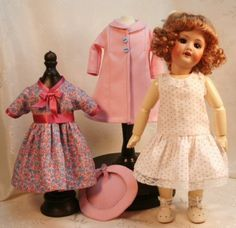 Bleuette patterns for dol clothing  1940s Dress by tresbellepoupee