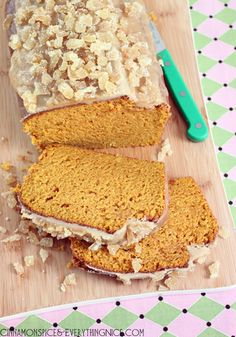 Pumpkin Bread w/ Maple Glaze