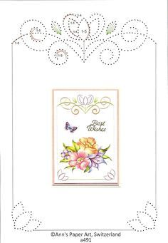 Kaarten maken Embroidery Cards, Embroidery Patterns, Card Patterns, Stitch Patterns, Stitching On Paper, Sewing Cards, String Art Patterns, Edge Stitch, Paper Frames