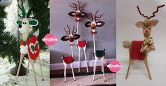 Transforma cucharas de madera en lindos renos - Dale Detalles