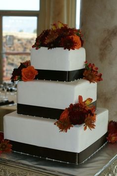square wedding cakes with fall flowers 1000 images about wedding cakes on fall 20419