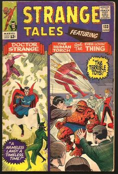 Strange Tales #133 Dr. Strange: Ditko, TORCH THING by POWELL  1965 Stan Lee