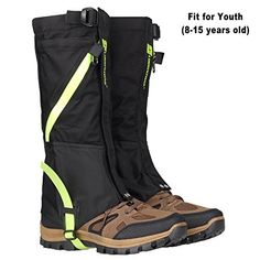 AMYIPO Unisex Snow Leg Gaiter Front Opening Design Gaiter Hiking Boots Gaiters Waterproof Gaiters For Youth >>> For more information, visit image link. (This is an affiliate link) #Snowshoeing